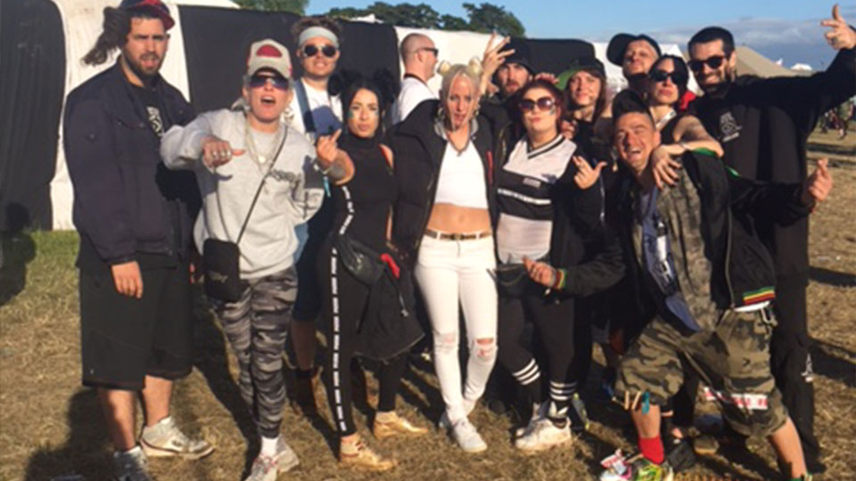 Balter crew! With Katchpyro dj Stivs Dert Bagginz Kaotic Kartel, bad gal Anna Prank & some excellent looking ravers