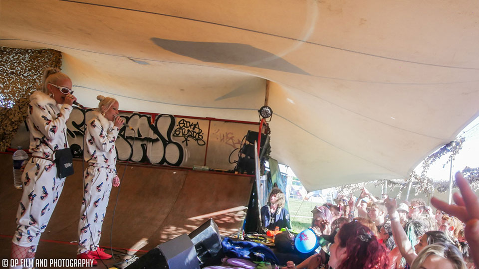 Saturday afternoon on the Sika Stage. Big ups to Gypsy Unit who played a sick gig just before us. Photography: Oliver Pooley.