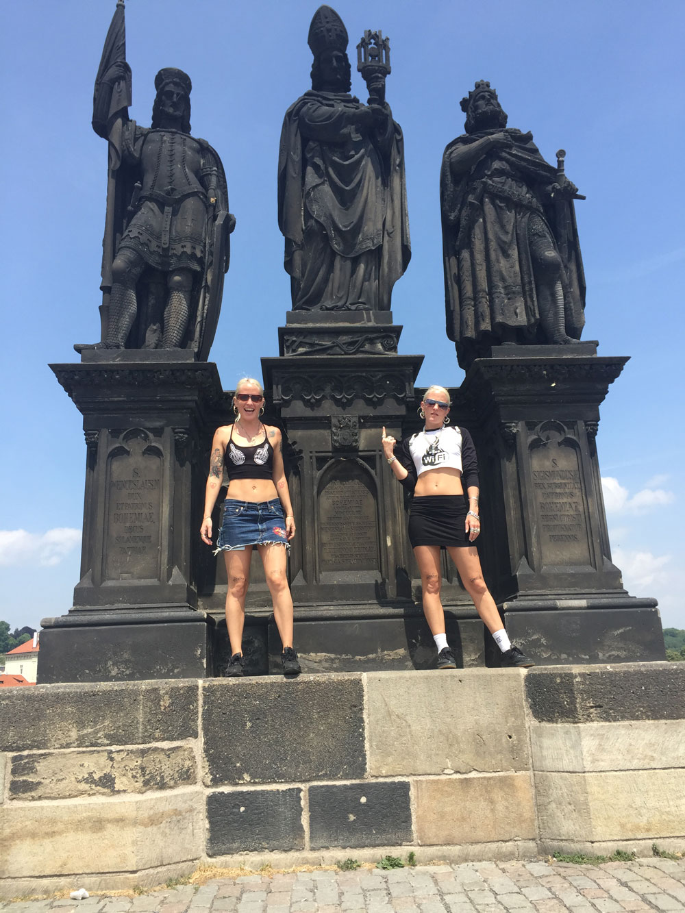 Czeching out some sites in Prague.